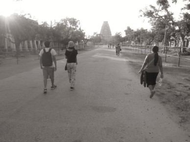 Walking in the Hampi Bazaar